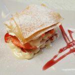 Milhojas de fresa con crema pastelera
